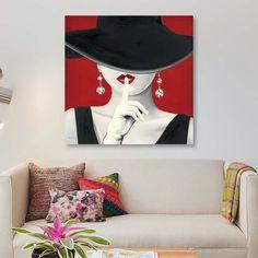 bc3e2c77f1798  Haute Chapeau Rouge  by Marco Fabiano Graphic Art Print on Wrapped Canvas  East Urban Home Size  45.72cm H x 45.72cm W x 1.91cm D
