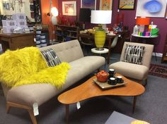 Jens Risom for Knoll, sofa and chair. Original wool hopsack fabric on a maple frame. Truly pieces of MCM history! In store at Retro House Love SoCal, in ESCONDIDO! Toddler Table And Chairs, Sofa, Couch, Upholstered Chairs, Mid-century Modern, Love Seat, Mid Century, The Originals, Retro