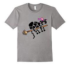 Men's Smiletodaytees Funny Black Cat Riding Broom T-shirt...…