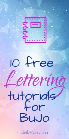 Check out my fave FREE hand lettering for bullet journaling video tutorials. Popular styles include calligraphy, brush lettering, and faux calligraphy.
