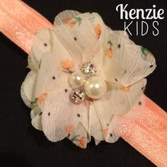 Vintage Floral Headband  by Kenzie Kids Boutique
