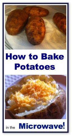 Learn how to bake potatoes in the microwave - never cook them in your oven again!