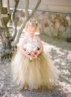 Weddbook is a content discovery engine mostly specialized on wedding concept. You can collect images, videos or articles you discovered  organize them, add your own ideas to your collections and share with other people - golden fairy flower girl dress flowergirl #flowergirl