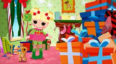 #Lalaloopsy #Webisode: 5: It's a Wrap! Holly Sleighbells seeks the help of her friends in Lalaloopsy Land to help her find Reindeer's missing gift.