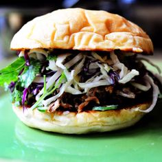 Pulled pork with The Pioneer Woman's cilantro-jalapeño slaw. It's our Super Bowl grub.