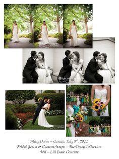 Mary Owen-Caraza.  Bridal gown and sash.  www.belfiorebridal.com