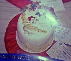 Small Australian Christmas cake with koala holding a boomerang gift. By Summer J Luke Australian Christmas, Paper Ornaments, Sugar Craft, Cake Toppers, Wedding Cakes, Blog, Christmas Cakes, Shapes, Wild Flowers
