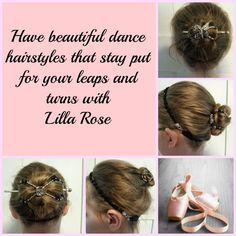 Beautiful dance hairstyles with Lilla Rose! www.lillarose.biz/H-ArtbyLJ