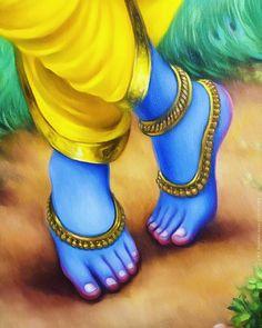 The Lotus Feet of Lord Shri Krishna. Baby Krishna, Krishna Leela, Jai Shree Krishna, Radha Krishna Photo, Radha Krishna Love, Radhe Krishna, Yashoda Krishna, Shri Hanuman, Lord Krishna Images