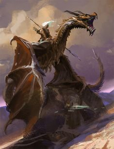 Beautiful pictures of dragons Dragon art and drawings Weird Creatures, Fantasy Creatures, Mythical Creatures, Dragon Knight, Dragon Rider, Fantasy Dragon, Fantasy Warrior, Fantasy Character Design, Character Art