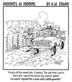 Cattle guards - yep, being the 'gate keeper' gets old very fast!! LOL