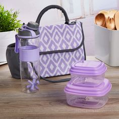 ec662cc9a82e Lovelock Insulated Lunch Bag Set with Reusable Containers   24 oz. Active  Shaker Bottle Lunch
