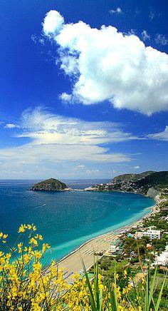 Spiaggia dei Maronti, Island of Ischia, Gulf of Napoli, Italy