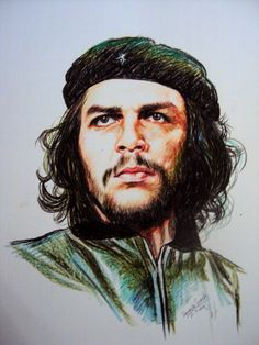 Amazing Crayon Portraits by Davinchi Suresh Full Hd Pictures, Galaxy Pictures, Che Quevara, Che Guevara Photos, 3d Wall Painting, Wall Paintings, Revolution Poster, Friends Scenes, Ernesto Che