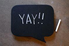 Chalkboard Speech Bubble Party Idea  Activity