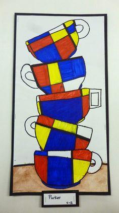 Artistic Freedom: Year 4 Mondrain Squares... Tea Time!