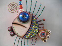 Twisted Fish 6 - Original Found Object Sculpture, Wall Art, Wood Carving, by Fig Jam Studio