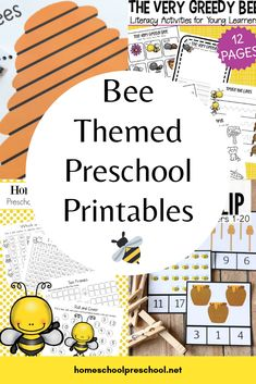 Explore this wonderful collection of free preschool bee themed printables that focus on math, science, and literacy. There's even a fun craft template for your little ones. Preschool At Home, Free Preschool, Preschool Themes, Preschool Printables, Classroom Themes, Preschool Crafts, Montessori Classroom, Preschool Literacy, Preschool Worksheets