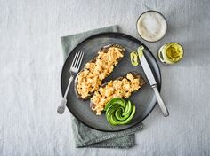 Toasted Rye Bread Topped with Scrambled Eggs, Tracklements Tewkesbury Hot Mustard and Avocado Rye Toast, Chicken Patties, Healthy Food, Healthy Recipes, Rye Bread, Sausage Rolls, Honey Mustard, Scrambled Eggs, Avocado