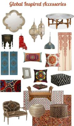 Global Decor: Get Jet-Setting Style Without Leaving Home Travel abroad is inspiring for all of the sights, sounds, and flavors we experience, but it also has a dramatic impact on the way we decorate our homes. Design elements from the east have influence Morrocan Decor, Moroccan Room, Moroccan Interiors, Moroccan Style Bedroom, Modern Moroccan Decor, Moroccan Curtains, Moroccan Furniture, Moroccan Theme, Festa Tema Arabian Nights