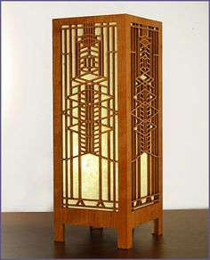 Frank Lloyd Wright Robie Art Glass Lightbox Accent Lamp