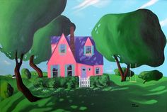 Nid D'amour 1989 (36x24 )by Rene Lalonde