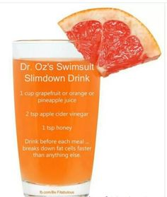 Dr oz slim down drink more. dr oz slim down drink more foods to lose weight, losing weight fast Detox Drinks, Healthy Drinks, Get Healthy, Healthy Weight, Healthy Detox, Dr Oz Detox Drink, Acv Drinks, Healthy Food, Vegan Detox