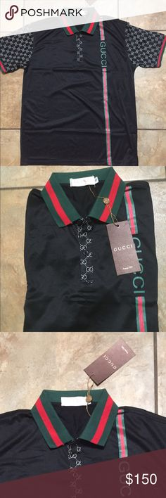 7281332f0 Gucci men s shirt authentic Nwt Gucci Shirts Polos Gucci Shirts Men