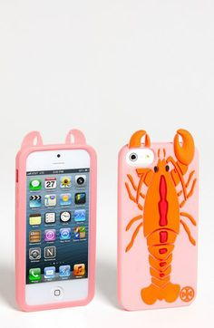 How fun is this? Tory Burch Lobster iPhone 5 Case | Nordstrom