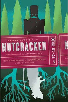 Red and green are often used in #Nutcracker #posters. We love the #sinister feel of this one