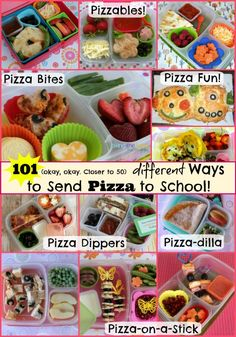 "Skip the cafeteria and send your own more EXCITING version on ""Pizza Day!"""