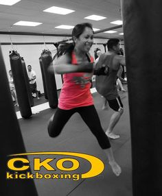 CKO Kickboxing- fitness kickboxing for everyone! Superman punch from a super woman!!