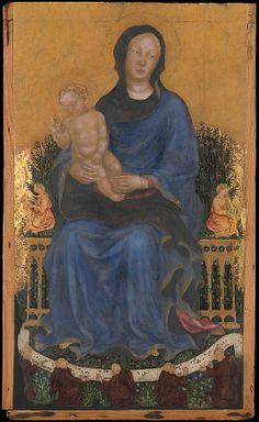 "Джентиле да Фабриано (ок.1370-1427гг.) ""Мадонна с Младенцем и ангелами"" (85,7 х 50,8 см)"