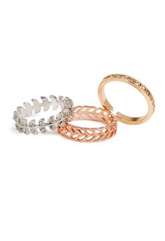 Better Together rings by JustFab are fun to layer with along with a nice bracelet or watch.