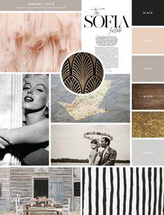 Orlando wedding and event planner brand design by Salted Ink. Wedding planner brand design styling and color palette establishment. Branding and print design. Brush Pen Custom Lettering.