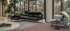 Merlino | | cierre living in leather Couches, Sofas, 2017 Design, Chrome Plating, Merlin, Seat Cushions, Upholstery, Relax, Chair