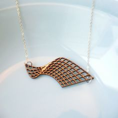 Bamboo laser cut necklace by Harbinger Co