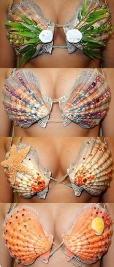 mermaidcydney: Seashell Tops By Mermaid Cydney