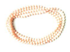 Halskette Modische Halskette 190 cm geschlossen ohne Verschlussteil rosa,Original-Schmuck 60-ziger Kunststoffperlen keine Handarbeit Art.-Nr.: RHK1004