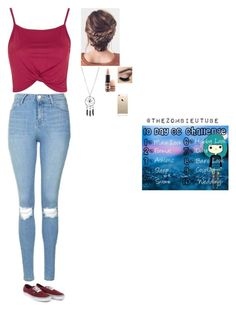 """Day 7: Date look😍😗👑"" by wildcalifornia2016 ❤ liked on Polyvore featuring Topshop, MAC Cosmetics, FingerPrint Jewellry and Vans"