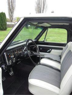 Black & white 70-72 chevy truck interior ☆ ° ~ ° ☆