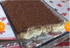 Assunto de mulheres : Receita de Torta de Chocolate com Coco. INGREDIENTES   1 Litro de leite 4 Colheres (sopa) de amido de milho 2 Ovos 2 Pacote de coco ralado 1 Lata de leite condensado Calda 7 Colheres (sopa) de achocolatado 2 Colheres (sopa) de manteiga 1 Lata de creme de leite Ramos de hortelã para enfeitar