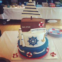 Nautical themed cake.