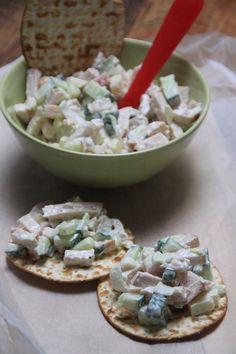 Gerookte kip salade met appel en komkommer recept Foodblog Foodinista
