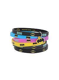 HOTTOPIC.COM - DC Comics Batman Logo Rubber Bracelet 6 Pack