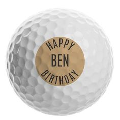 Personalised Golf Ball - Happy Birthday Happy Birthday Golf, Gifts For Sports Fans, Golf Ball, Thing 1 Thing 2, Personalized Gifts, Note, Shop, Fun, Products