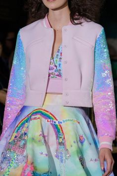 Manish Arora at Paris Fashion Week Spring 2017 - Details Runway Photos Harajuku Fashion, Kawaii Fashion, Cute Fashion, Cheap Fashion, Fashion Women, Fashion Week Paris, Runway Fashion, Fashion Trends, Pastel Fashion
