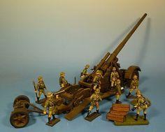 Orig.Lineol (Elastolin) Wehrmacht – Metall – 17 cm Kanone 18 - für 7cm Figuren