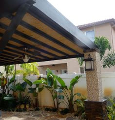 Bamboo Pergola with Tile and Stone Columns | Flickr - Photo Sharing!