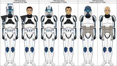 319th Ranger Division clone officers by MarcusStarkiller on DeviantArt